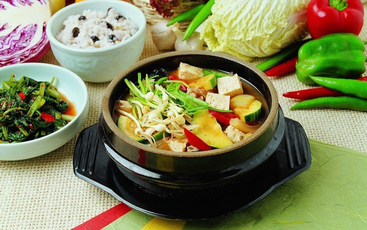 овощи, тарелка, перец, капуста, салат, чеснок, vegetables, plate, pepper, cabbage, salad, garlic
