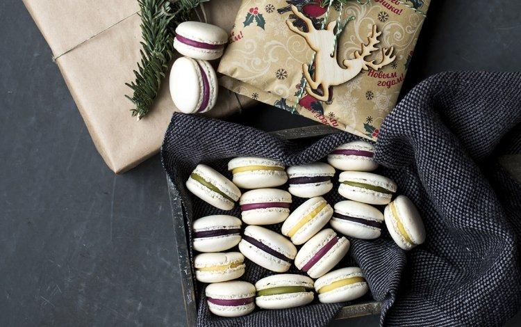 новый год, миндальное, подарок, праздник, коробка, сладкое, печенье, выпечка, макарун, new year, almond, gift, holiday, box, sweet, cookies, cakes, macaron