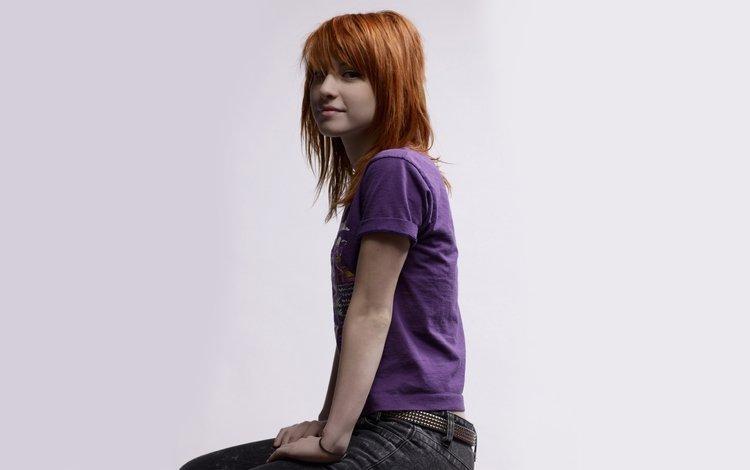 девушка, певица, рыжеволосая, хейли уильямс, girl, singer, redhead, hayley williams