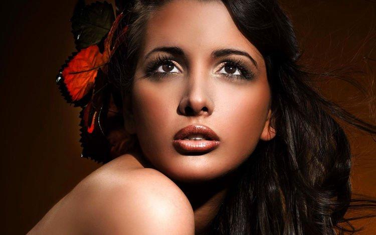 girl, model, face, makeup