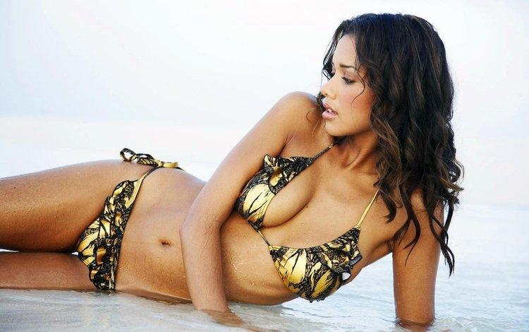 девушка, модель, грудь, тело, бикини, мулатка, натали сулиман, girl, model, chest, body, bikini, mulatto, natalie suliman