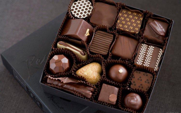 конфеты, белый, шоколад, коробка, сладкое, в шоколаде, молочный, ассорти, candy, white, chocolate, box, sweet, milk, cuts