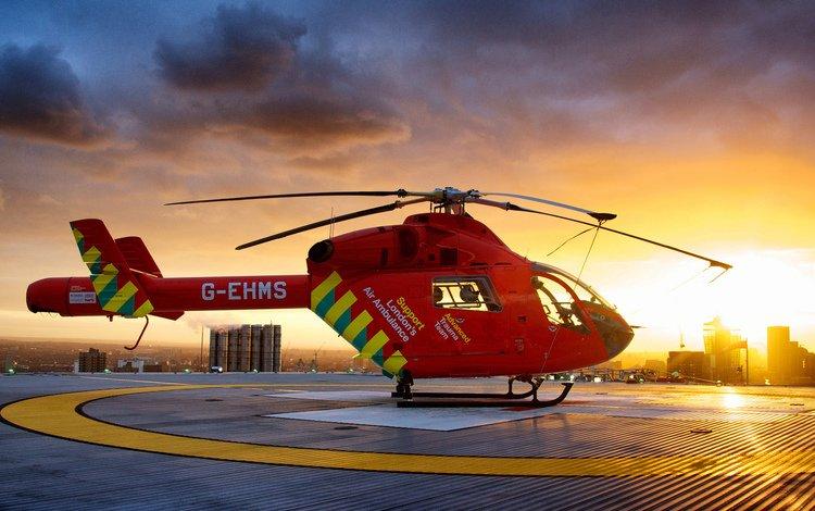 закат, город, красный, высота, вертолет, sunset, the city, red, height, helicopter