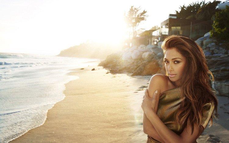 песок, пляж, певица, николь шерзингер, знаменитость, sand, beach, singer, nicole scherzinger, celebrity