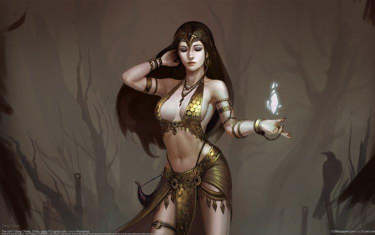 арт, девушка, фэнтези, магия, art, girl, fantasy, magic