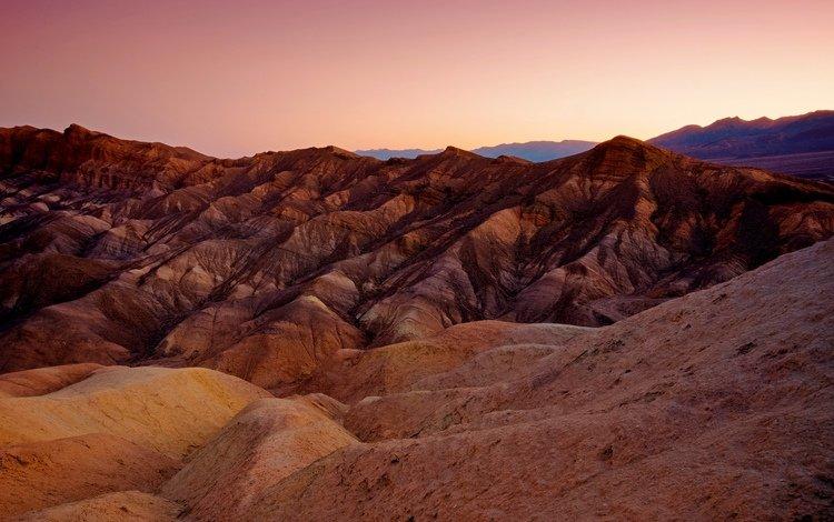 горы, природа, закат, пустыня, mountains, nature, sunset, desert