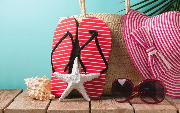 пляж, каникулы, лето, сланцы, очки, летнее, аксессуаров, отдых, вс, шляпа, морская звезда, песка, beach, vacation, summer, slates, glasses, accessories, stay, sun, hat, starfish, sand