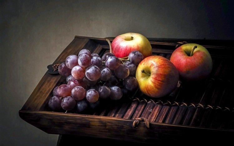 виноград, фрукты, яблоки, grapes, fruit, apples