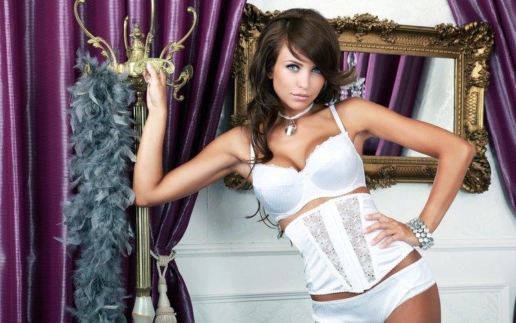 девушка, зеркало, корсет, girl, mirror, corset