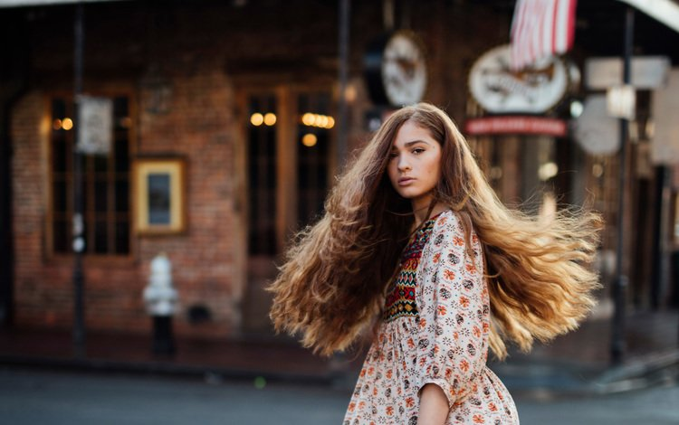 girl, dress, the city, street, hair, jesse herzog, bourbon street