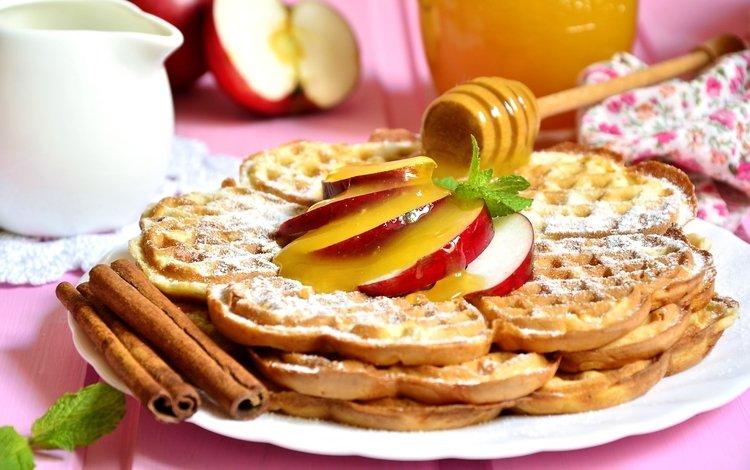 яблоки, сладкое, мед, яблок, выпечка, десерт, baking, сладенько, apples, sweet, honey, cakes, dessert
