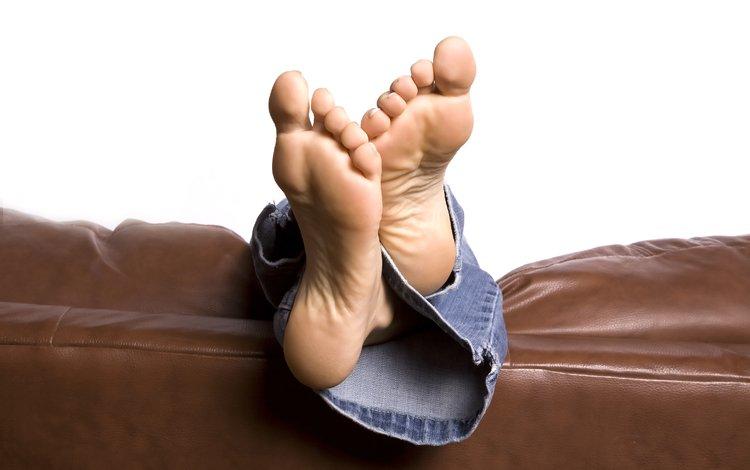джинсы, ноги, диван, джинс, ногами, jeans, feet, sofa