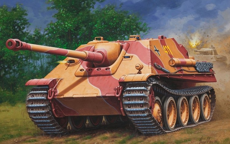 арт, немецкая, ягдпантера, art, german, jagdpanther