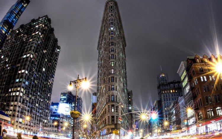 огни, сша, нью-йорк, манхэттен, lights, usa, new york, manhattan