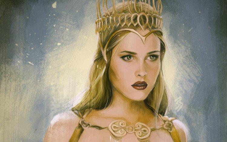 арт, фон, взгляд, королева, фэнтази, art, background, look, queen, fantasy