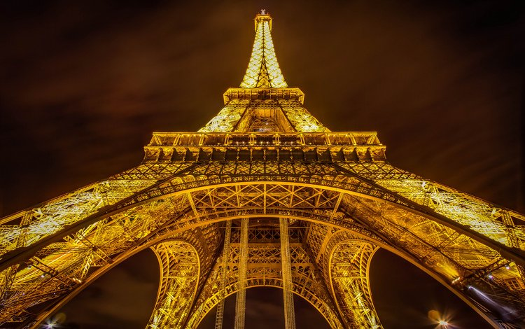 ночь, париж, франция, эйфелева башня, эйфелева башня, night, paris, france, eiffel tower