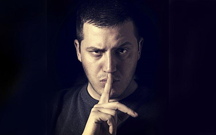 рука, лицо, мужчина, мужик, тишина, пальцы, пальцев, грань, hand, face, male, man, silence, fingers