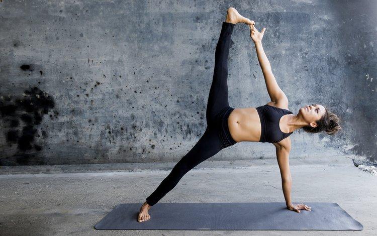 девушка, поза, спортивная одежда, йога, girl, pose, sports wear, yoga