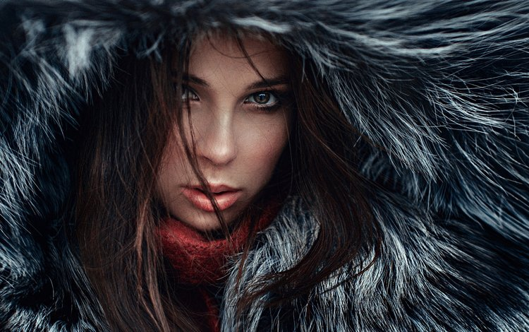 девушка, лицо, мех, шуба, георгий чернядьев, venera ray, girl, face, fur, coat, george chernyadev