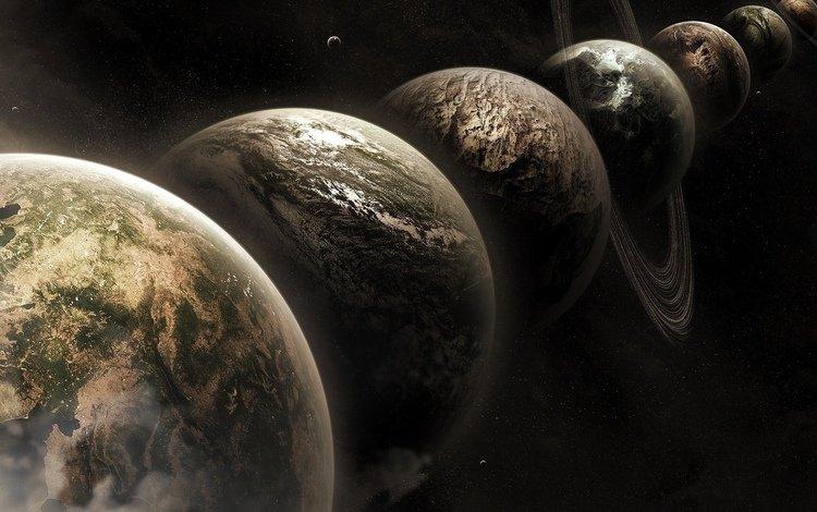космос, планеты, space, planet