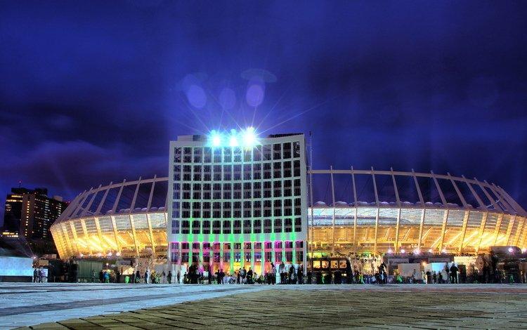 киев, нск олимпийский, центральный вход, kiev, the olympic nsc, the main entrance