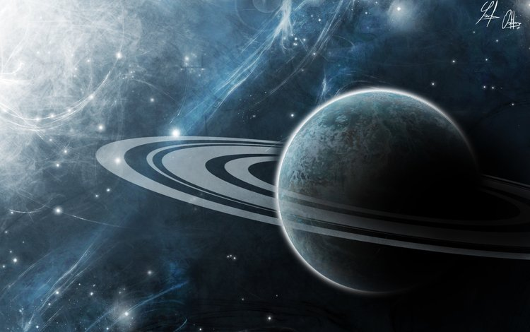 art, space, planet, the universe, ring, saturn