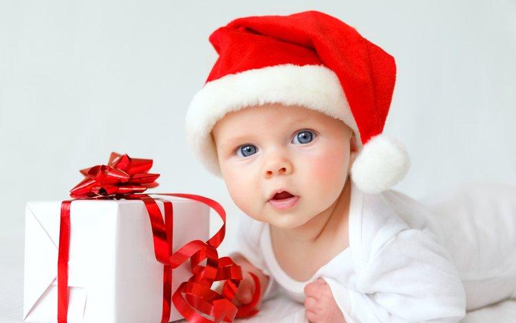 ребенок, шапка, малыш, подарок, рождество, младенец, детские, елочная, infant, дитя, child, hat, baby, gift, christmas