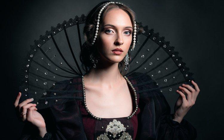 арт, девушка, портрет, взгляд, волосы, лицо, анна, renaissance, art, girl, portrait, look, hair, face, anna