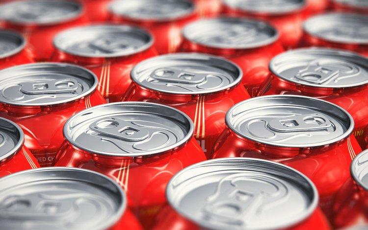 банки, аллюминий, газировка, бидон, banks, aluminum, soda, cans
