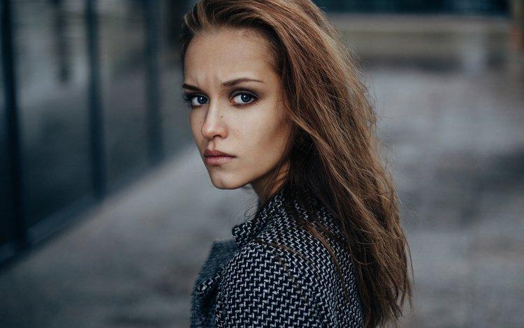 девушка, портрет, модель, волосы, лицо, girl, portrait, model, hair, face