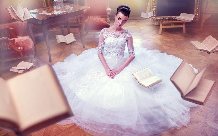 платье, невеста, vita vecera, flying books, dress, the bride