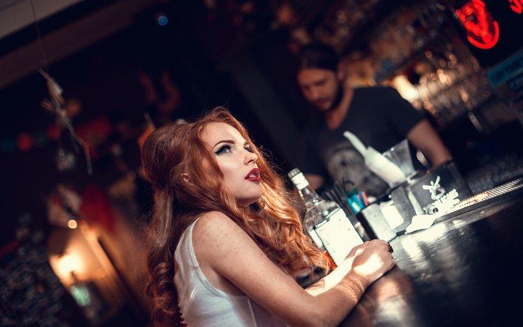девушка, бар, макияж, бутылка, стойка, helen molchanova, girl, bar, makeup, bottle, stand