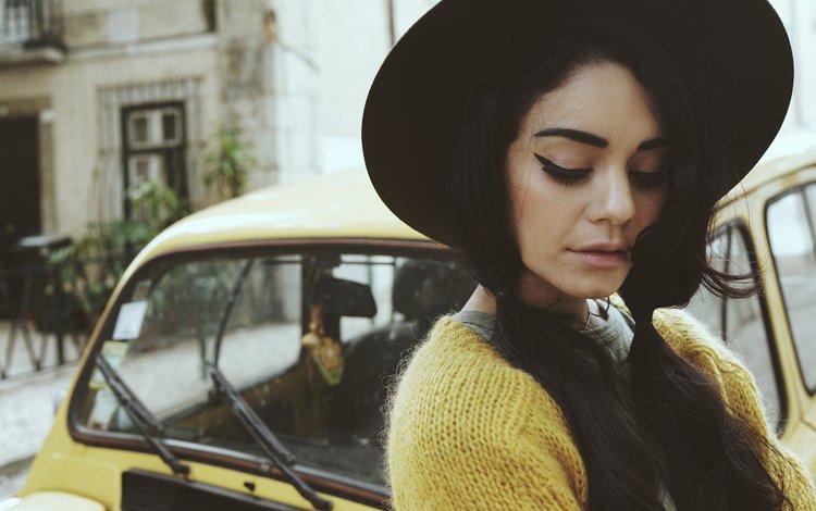 girl, beauty, model, actress, singer, hat, vanessa hudgens