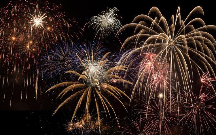 огни, салют, красота, фейерверк, lights, salute, beauty, fireworks