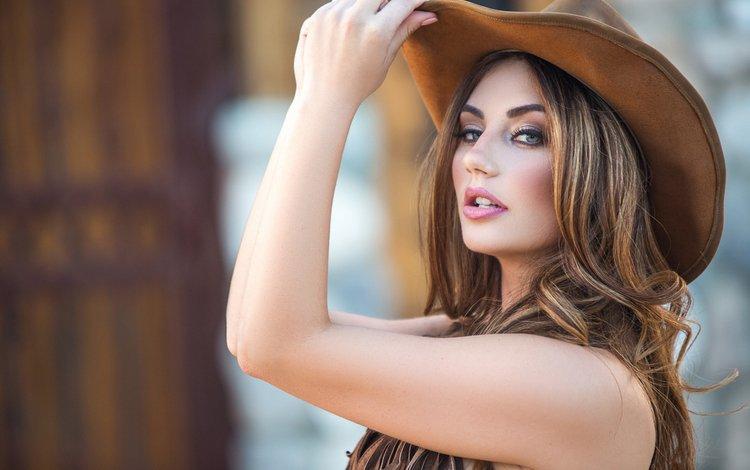 девушка, playboyplus, lauren love, взгляд, модел, модель, волосы, шляпа, шатенка, cowgirl, плейбой, gевочка, girl, look, model, hair, hat, brown hair, playboy