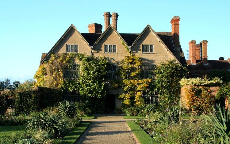 дорожка, кусты, дом, англия, газон, особняк, packwood house, track, the bushes, house, england, lawn, mansion