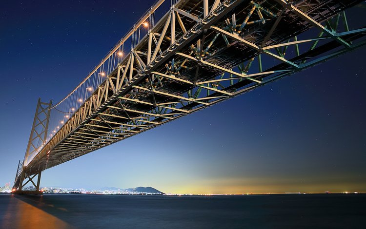 japan, suspension bridge, akashi-kaikyo, akasha-kaikyo, akashi kaikyo bridge