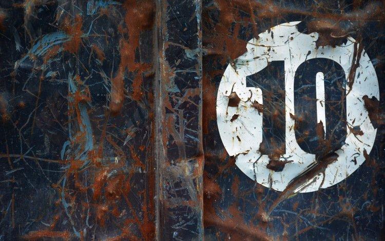металл, фон, ржавчина, 10, цифра, metal, background, rust, figure