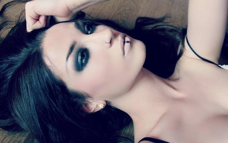 девушка, поза, модель, макияж, girl, pose, model, makeup
