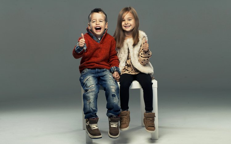 стиль, gевочка, laugh, дети, девочка, джинсы, мальчик, друзья, свитер, смех, style, children, girl, jeans, boy, friends, sweater, laughter