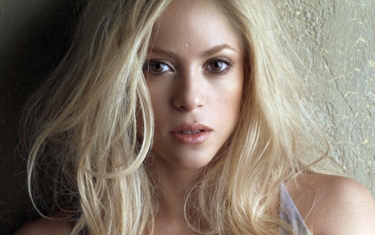 девушка, знаменитость, блондинка, портрет, музыка, волосы, лицо, певица, шакира, girl, celebrity, blonde, portrait, music, hair, face, singer, shakira