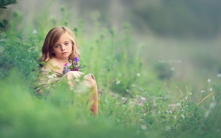 природа, взгляд, девочка, nature, look, girl