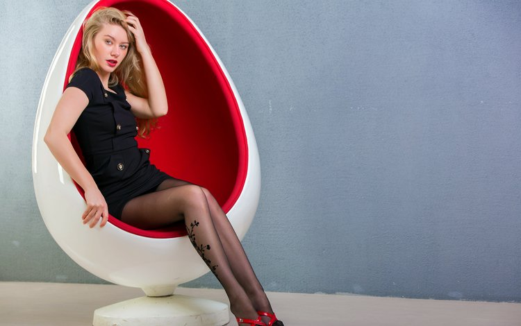 ella, egg chair, modernistic, model