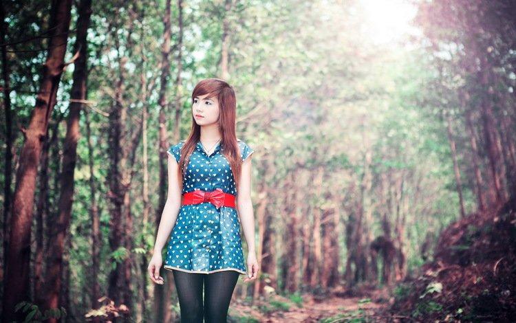 природа, девушка, азиатка, nature, girl, asian