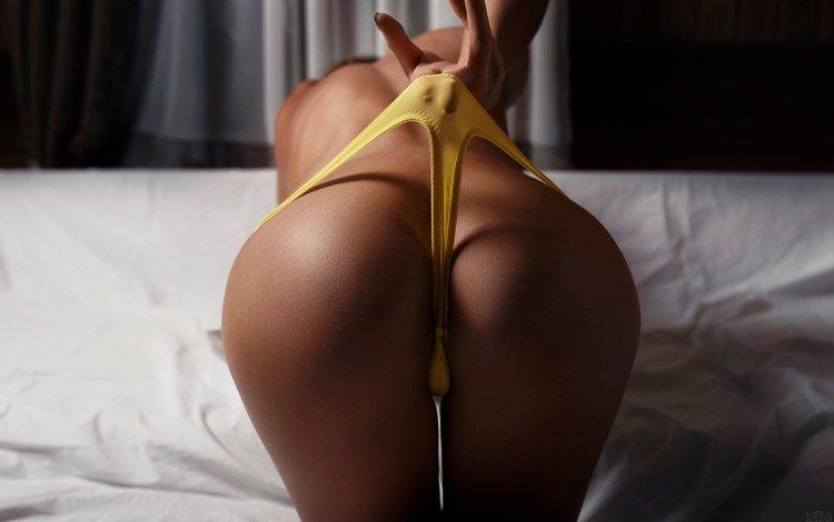 девушка, попа, фотограф, желтые, стринги, попка, зад, ura pechen, girl, ass, photographer, yellow, thong
