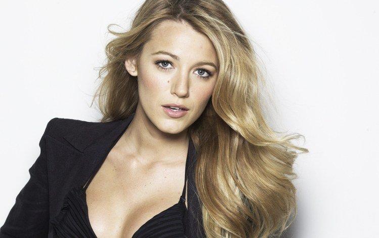 девушка, mark abrahams, блондинка, портрет, взгляд, лицо, актриса, декольте, блейк лайвли, girl, blonde, portrait, look, face, actress, neckline, blake lively