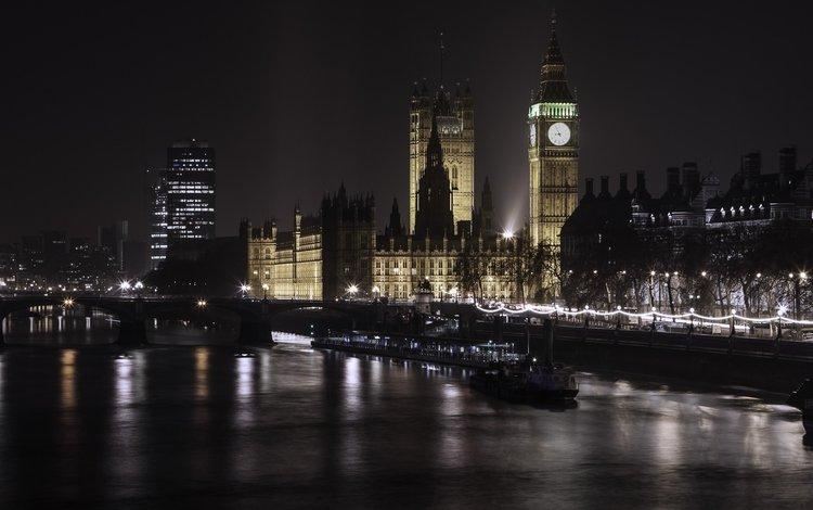 ночь, огни, лондон, фотограф, биг-бен, парламент, paulo ebling, night, lights, london, photographer, big ben, parliament