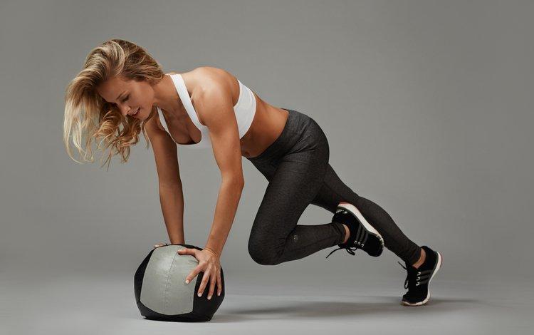 девушка, мяч, фитнес, тренировки, girl, the ball, fitness, workout