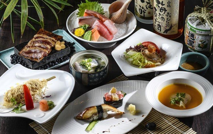 морепродукты, ассорти, блюда, seafood, cuts, meals