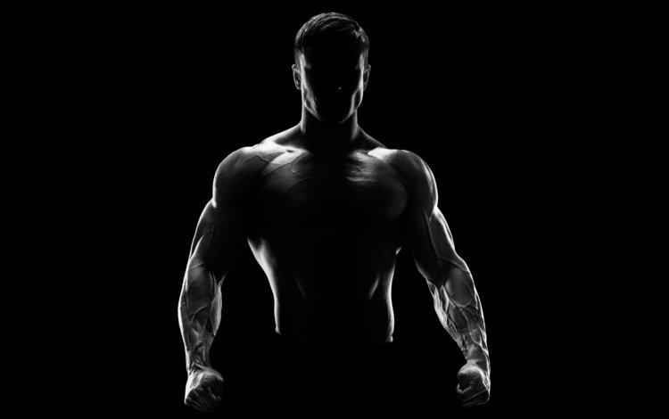 человек, силуэт, мужик, фитнес, people, silhouette, man, fitness